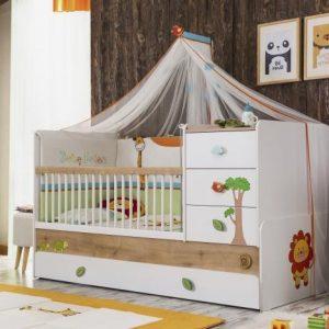 Safari Natura Babybett Umbaubar