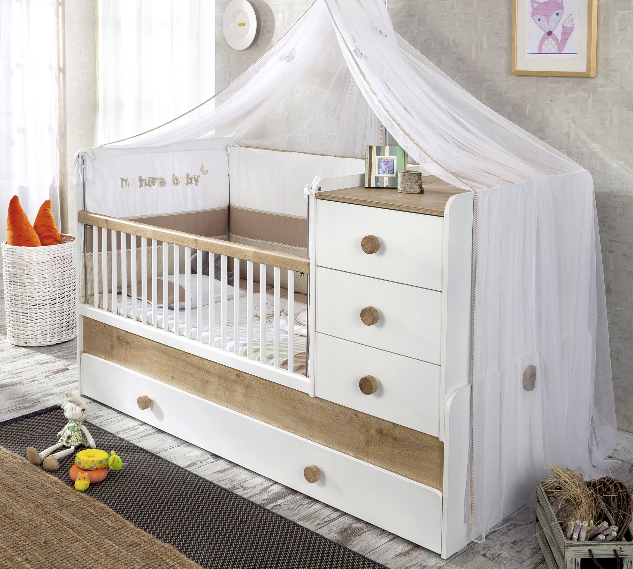 cilek natura baby mitwachsendes babybett liegefl chen 80. Black Bedroom Furniture Sets. Home Design Ideas