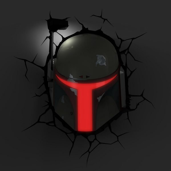 Star Wars Boba Fett Wandlampe 3D