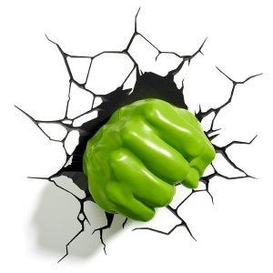 Hulk-Faust Wandlampe 3D