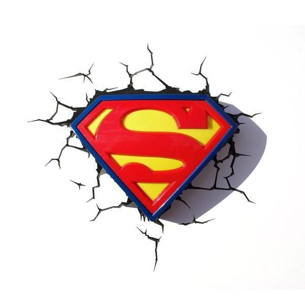 Superman Logo Wandlampe 3D