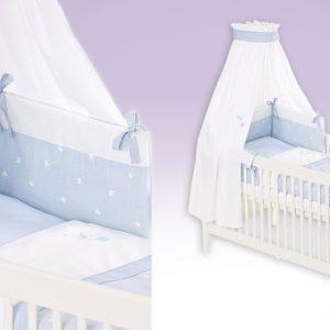 Krone blau Babytextilien-Set