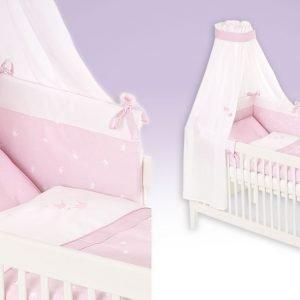 Krone rosa Babytextilien-Set
