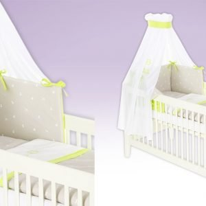 Schaukelpferd grün Babytextilien-Set