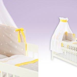 Schaukelpferd orange Babytextilien-Set