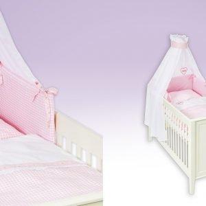Herzilein beige Babytextilien-Set
