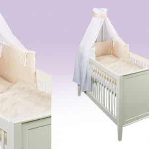 Sterne beige Babytextilien-Set
