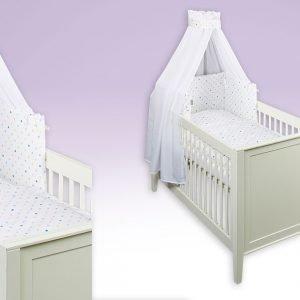 Sterne blau Babytextilien-Set