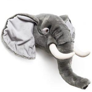 Plüsch Tierkopf-Trophäe Elefant George