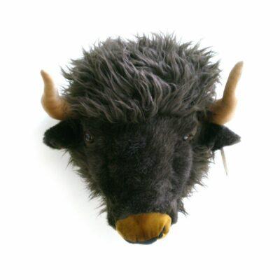 Plüsch Tierkopf-Trophäe Büffel Alex