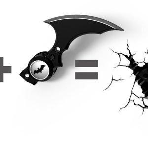 Batman Batarang Wandlampe 3D