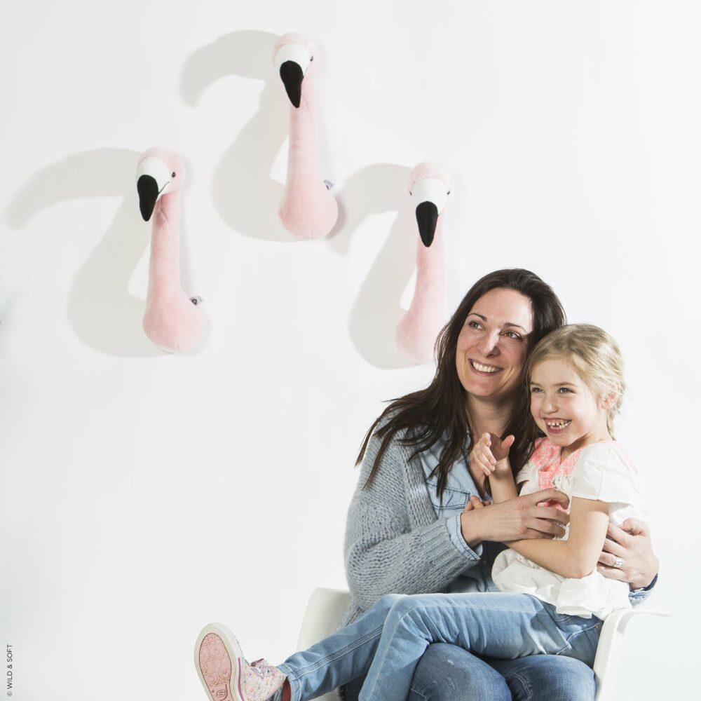 Plüsch Tierkopf Flamingo Sophia