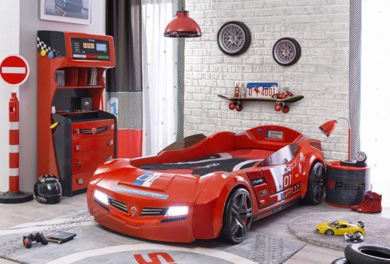 Autobett Biturbo Rot mit LED und Sound