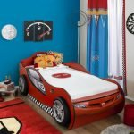 Autobett Coupe mit Zusatzbett Rot