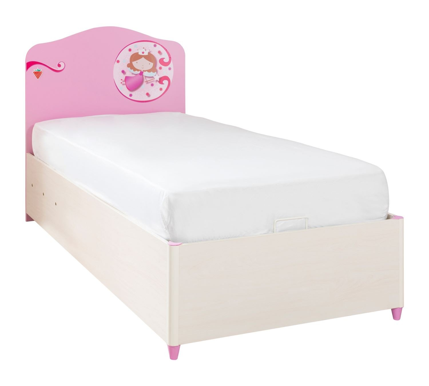 cilek princess bett mit stauraum 90x190cm panda kinderm bel. Black Bedroom Furniture Sets. Home Design Ideas