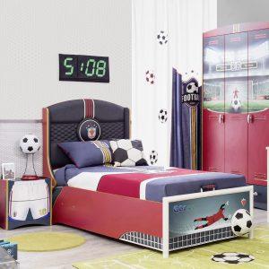 Football Bett mit Stauraum (90x190cm)
