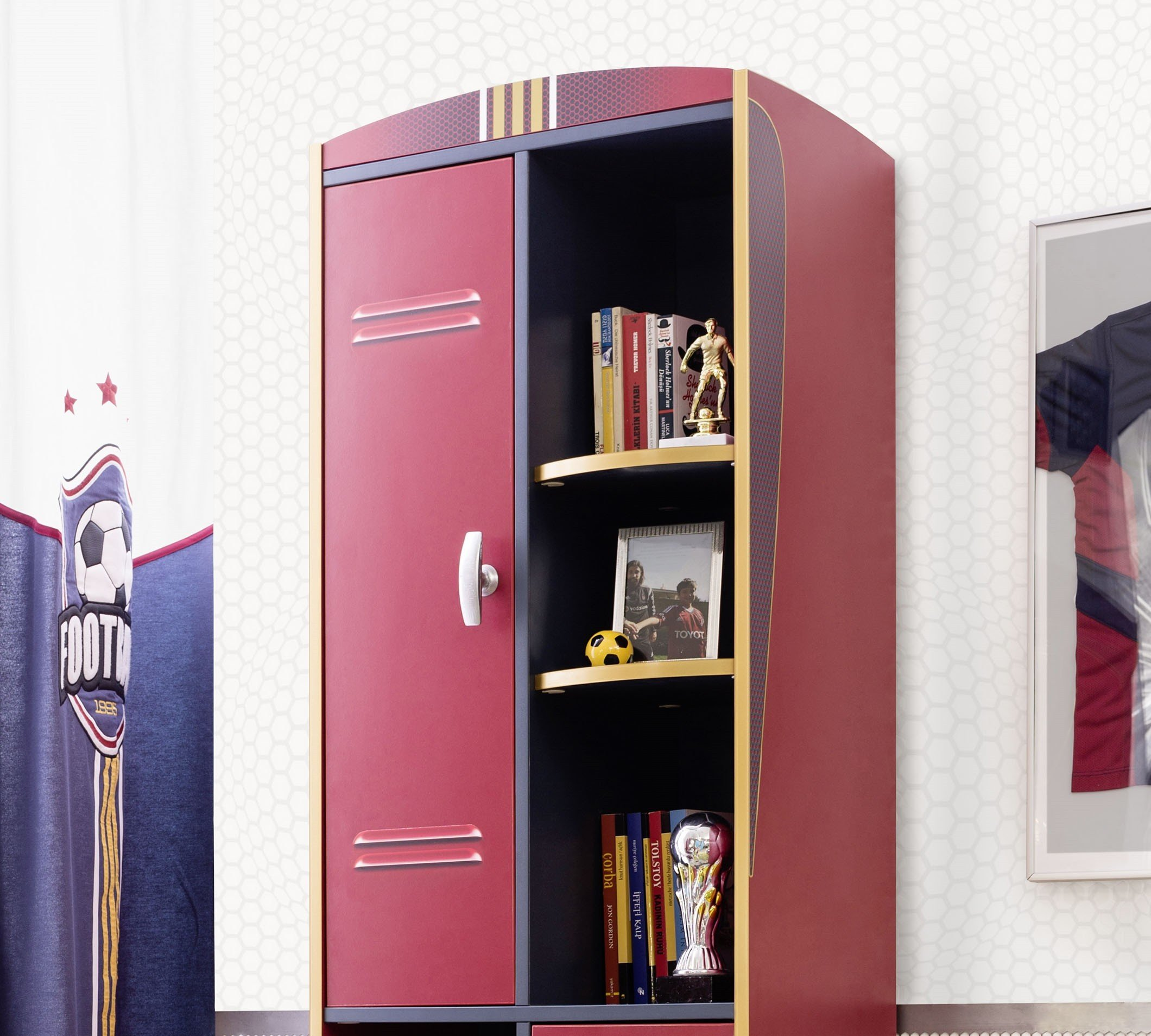 football b cherregal panda kinderm bel. Black Bedroom Furniture Sets. Home Design Ideas