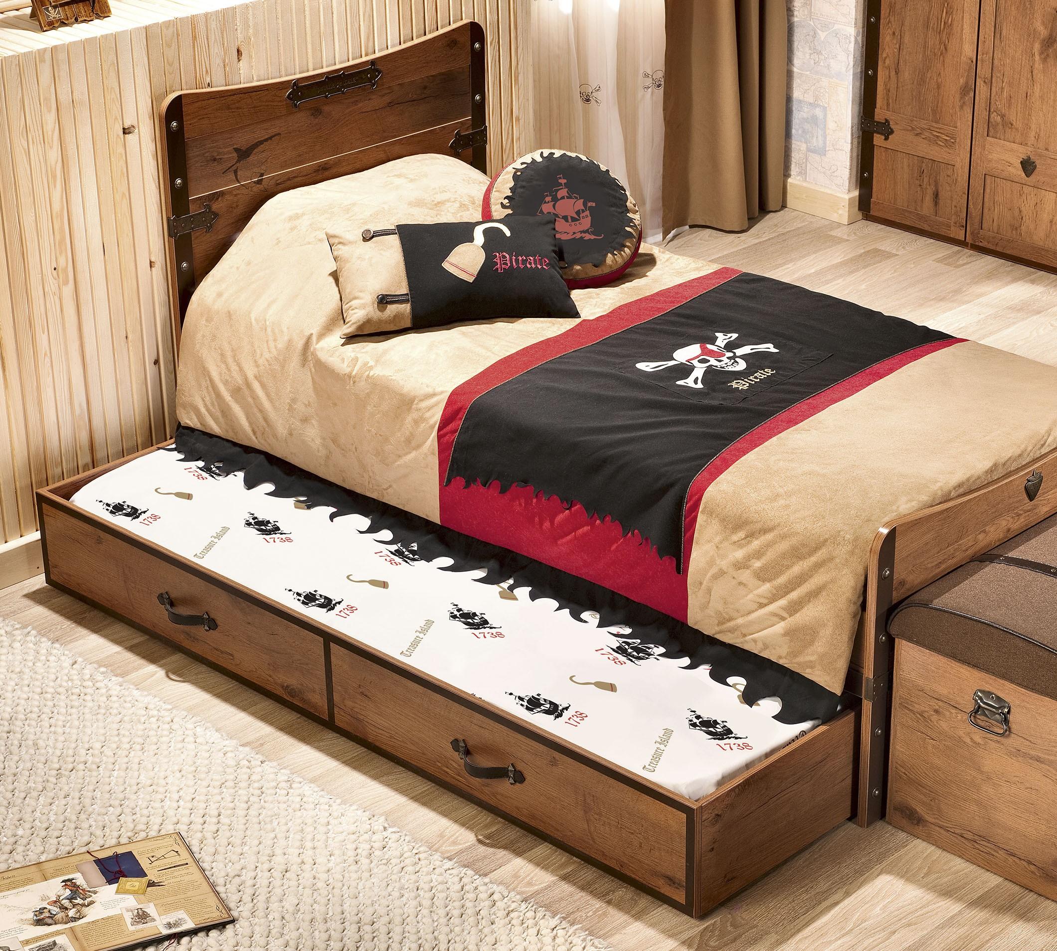 Pirate Ausziehkasten 90x190cm
