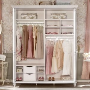 Romantic Kleiderschrank mit Schiebetüren