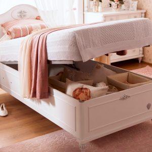 Romantic Bett mit Stauraum (90x190cm)