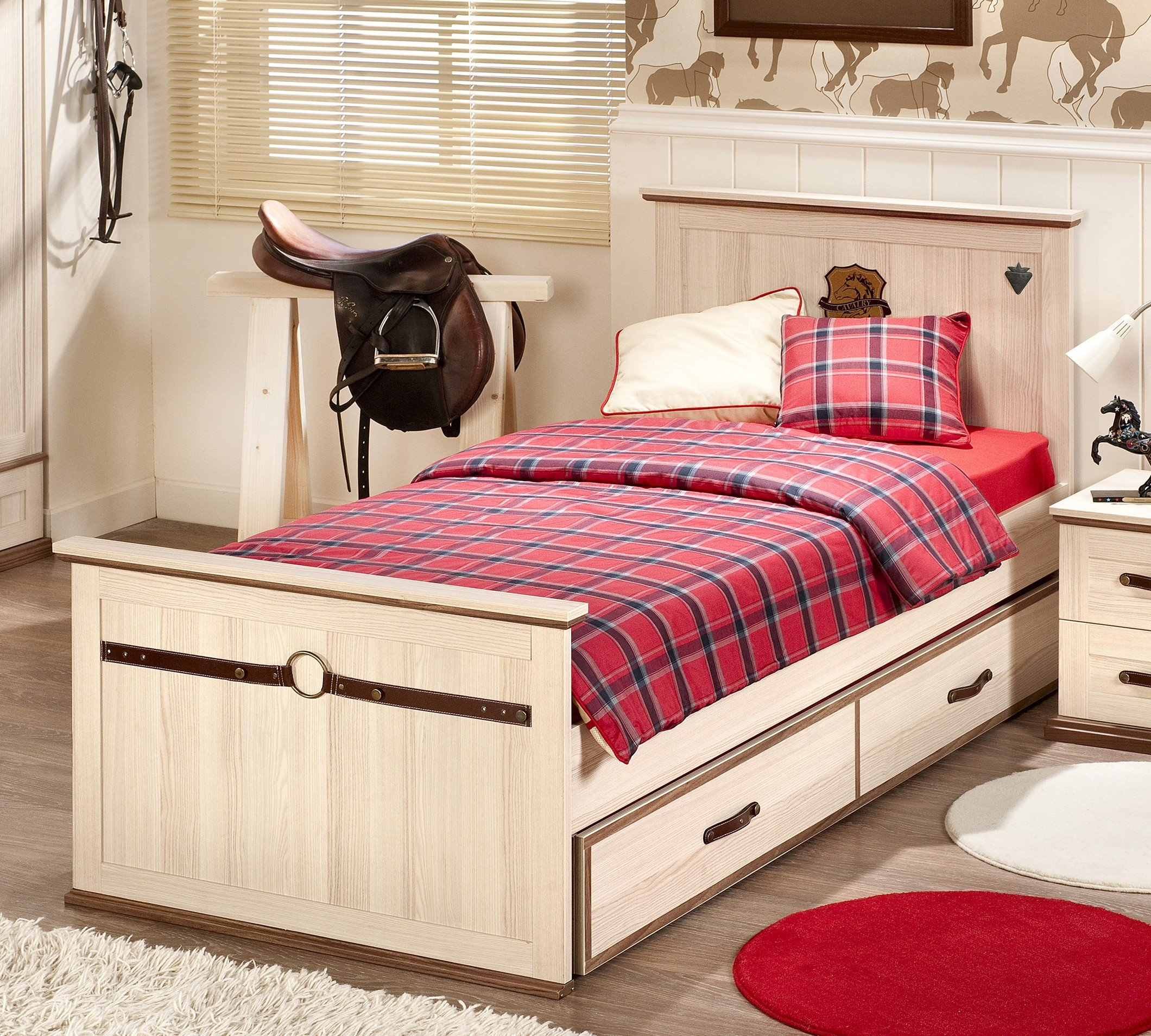 royal l bett 100x200cm sch nes bett f r kinder und jugendliche. Black Bedroom Furniture Sets. Home Design Ideas