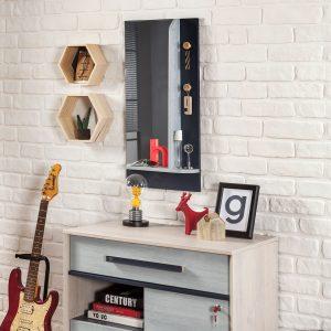 Trio Wandspiegel mit Regal