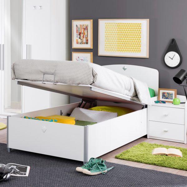 einzelbett mit stauraum. Black Bedroom Furniture Sets. Home Design Ideas