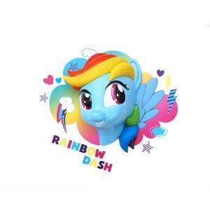Pony Rainbow Dash Wandlampe 3D