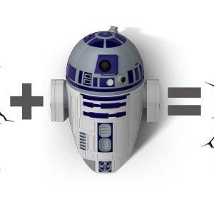 R2-D2 Wandlampe 3D