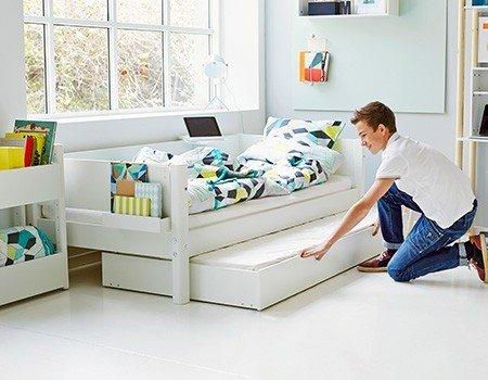 Flexa Bett Mit Ausziehkasten White Platzsparend Skandinavisches Design