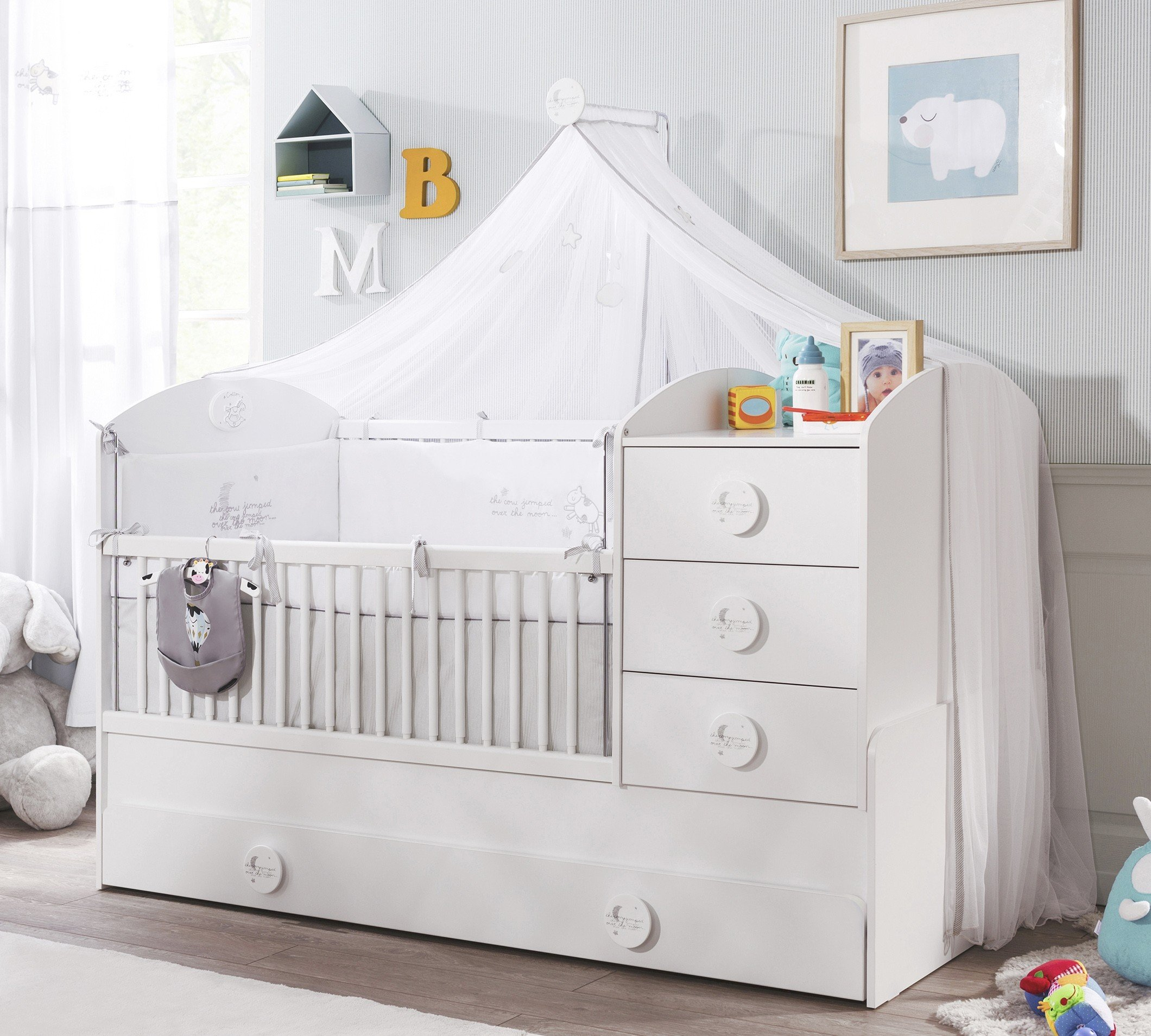 cilek baby cotton betthimmel babybett accessoires panda kinderm bel. Black Bedroom Furniture Sets. Home Design Ideas