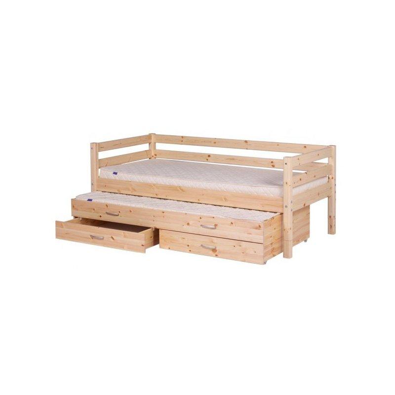 flexa bett mit ausziehbett und 2 schubkasten div farben praktisch. Black Bedroom Furniture Sets. Home Design Ideas
