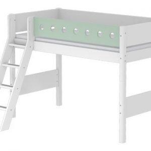 Flexa Mittelhohes Bett/ Weiss - Mintgrün