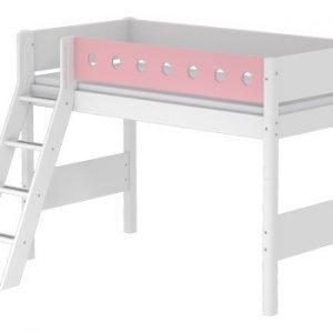 Flexa Mittelhohes Bett/ Weiss - Rosa