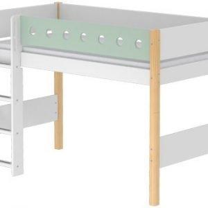Flexa Mittelhohes Bett/ Klarlack- Mintgrün