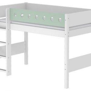 Flexa White Mittelhohes Bett/ Weiss - Mintgrün