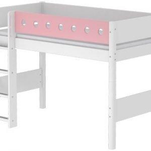 Flexa White Mittelhohes Bett/ Weiss - Rosa