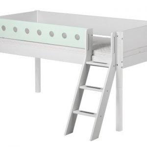 Flexa White Halbhohes Bett / Weiss- Mintgrün