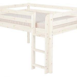 Flexa Classic Halbhohes Bett 140 cm / Weiss lasiert