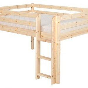 Flexa Classic Halbhohes Bett 140 cm / Klarlack