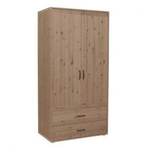 Flexa Kleiderschrank mit 2 Türen und 2 Schubladen / Terra - Weiss