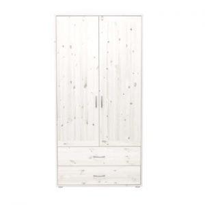 Flexa Kleiderschrank mit 2 Türen und 2 Schubladen / Weiss lasiert - Weiss lasiert - Weiss