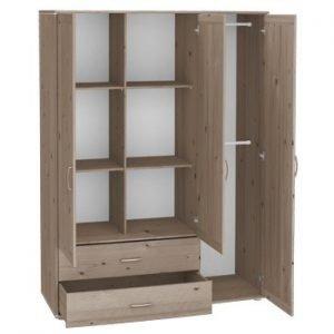 Flexa Extra hoher Kleiderschrank (3 Türen)/ Terra- Terra- Weiss
