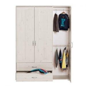 Flexa Extra hoher Kleiderschrank (3 Türen)/ Weiss lasiert- Weiss lasiert - Weiss