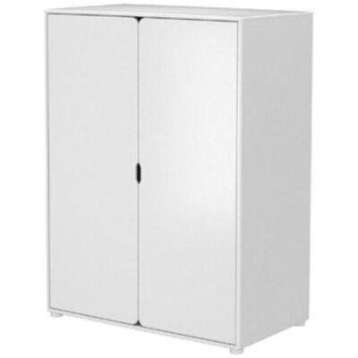 Flexa Niedriger Kleiderschrank Cabby ( 2 Türen ) / Weiss