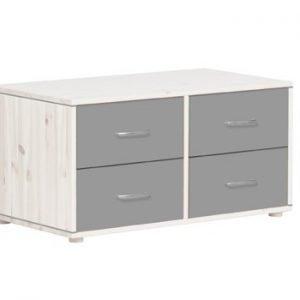Flexa Kommoden mit 4 Schubladen/ Weiss lasiert - Urban Grey - Urban Grey
