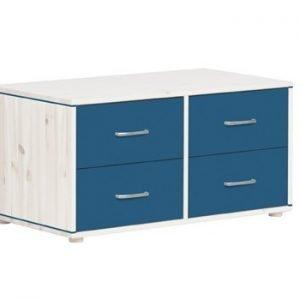 Flexa Kommoden mit 4 Schubladen/ Weiss lasiert -Nordic Blue- Nordic Blue