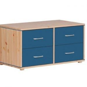 Flexa Kommoden mit 4 Schubladen/ Klarlack- Nordic Blue - Nordic Blue