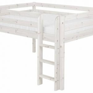 Flexa Halbhohes Bett Classic mit gerader Leiter