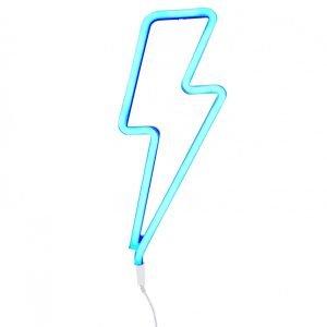 Wandlampe Blitz (neon blau)